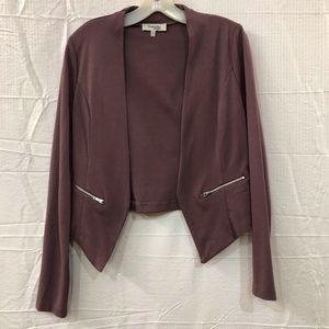 Charlotte russe Burgundy Jacket Open Front Size M